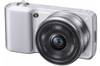 Sony NEX-3 stříbrný + 18-55 mm + 16 mm
