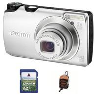 Canon PowerShot A3200 IS stříbrný + 4GB karta + pouzdro DF11 zdarma!