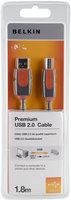 Belkin kabel propojovací USB-A na USB-B Premium 1,8m