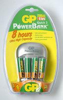 GP nabíječka PowerBank Quick 3 + 4x AA 2500 mAh