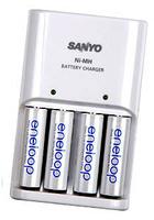 Sanyo Charger + 4x AA Eneloop 1900 mAh