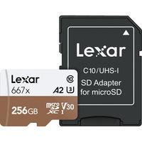 Lexar microSDXC 256GB 667x Professional Class 10 UHS-I U3 A2 (V30)