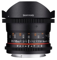 Samyang CINE 12mm T/3,1 ED AS NCS VDSLR Fisheye pro Pentax