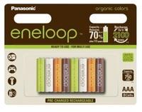 Panasonic Eneloop AAA baterie ORGANIC 750 mAh 8 ks