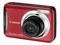 Canon PowerShot A495 červený