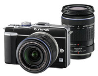 Olympus E-PL1 černý + 14-42 mm + 40-150 mm + MMF-2