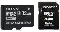 Sony Micro SDHC 32GB Class 4 + Adaptér