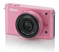 Nikon 1 J1 růžový + 10 mm