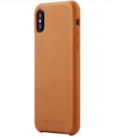 Mujjo kožené pouzdro (celotělové) pro iPhone XS/X modré