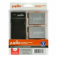 Jupio Kit 2x LP-E8 + USB Single Charger pro Canon