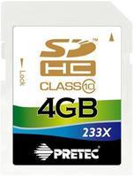 Pretec 4GB SDHC 233x, class 10
