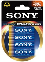 Sony alkalická baterie STAMINA PLATINUM LR6 / AA 1,5V 1ks