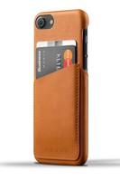 Mujjo kožené peněženkové pouzdro pro iPhone 8/7 šedé