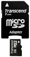 Transcend MicroSD 2GB paměťová karta (s adaptérem)