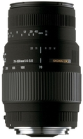 Sigma 70-300 mm DG MACRO pro Canon + UV filtr + PL filtr + neoprénové pouzdro!