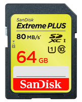 SanDisk SDXC 64GB EXTREME Plus 80MB/s UHS-I