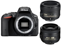 Nikon D5500 tělo + 35 mm + 50 mm Set pro Portrét/Reportáž