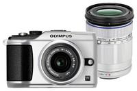 Olympus E-PL2 stříbrný + 14-42 mm II + 40-150 mm