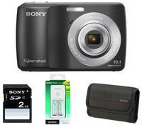 Sony CyberShot DSC-S3000 černý + nabíječka + baterie + 2GB karta + pouzdro zdarma!
