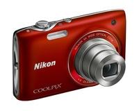 Nikon Coolpix S3100 červený + pouzdro 60G zdarma!