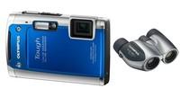 Olympus TG-610 modrý + dalekohled 8x21 DPC I zdarma!