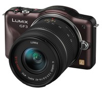 Panasonic Lumix DMC-GF3 hnědý + 14-42 mm