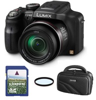 Panasonic Lumix DMC-FZ48 + 8GB karta + brašna DVF 80+ filtr UV 52mm!