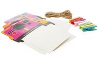 """Polaroid Rámeček na instantní fotografie 2x3""""růžový/oranžový"""
