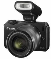 Canon EOS M + 22 mm f/2,0 STM + adaptér EF-EOS M + blesk 90EX černý