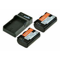 Jupio Kit 2x LP-E6 + USB Single Charger pro Canon