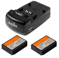 Jupio Kit 2x LP-E10 + USB Single Charger pro Canon