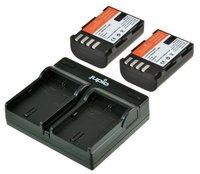 Jupio Kit 2x DMW-BLF19E + USB Dual Charger pro Panasonic