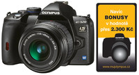 Olympus E-520 Double Zoom Kit + CF 4GB karta!