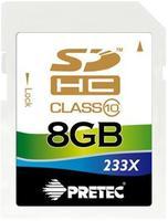 Pretec SDHC 8GB 233x, class 10