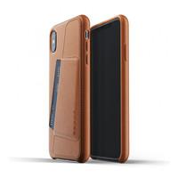 Mujjo kožené peněženkové pouzdro (celotělové) pro iPhone XS Max