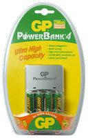 GP nabíječka PowerBank 4 + 2x AA 2700 mAh + 2x AAA 1000 mAh
