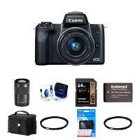 Canon EOS M50 + 15-45 mm + 55-200mm černý - Foto kit