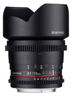 Samyang CINE 10mm T/3,1 VDSLR ED AS NCS CS II pro Pentax