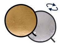 Lastolite odrazná deska kulatá 30cm stříbrná/zlatá