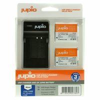 Jupio Kit 2x Li-90B-Li-92B + USB Single Charger pro Olympus