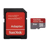 SanDisk micro SDHC Ultra 8GB, 30MB/s, Class 10  + Adaptér