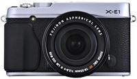 Fujifilm X-E1 tělo stříbrný + 18 mm