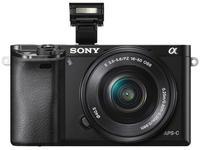 Sony Alpha A6000 + 16-50 mm černý + 16GB Class 10 + brašna + autom. krytka +  protector LCD!