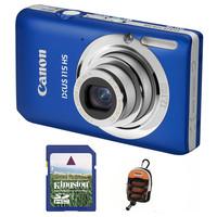 Canon IXUS 115 HS modrý + 4GB karta + pouzdro DF11 zdarma!