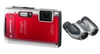 Olympus TG-610 červený + dalekohled 8x21 DPC I zdarma!