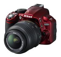 Nikon D3100 červený + 18-55 mm VR + 55-200 mm VR