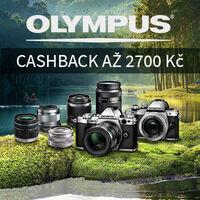 Olympus cashback je tady. Ušetřete až 14 700 Kč a získejte navíc záruku 6 měsíců