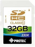 Pretec SDHC 32GB 233x, class 10