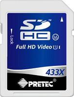 Pretec SDHC 16GB 433x, class 16, UHS-I