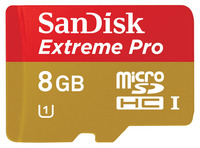 SanDisk micro SDHC 8GB EXTREME PRO, 95MB/s, Class 10